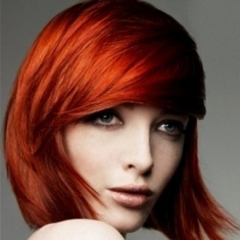 عکس های مدل مو شرابی و قرمز