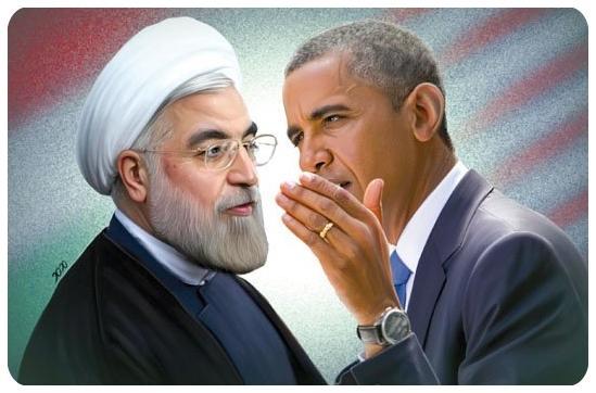 اس ام اس های خنده دار اوباما و روحانی