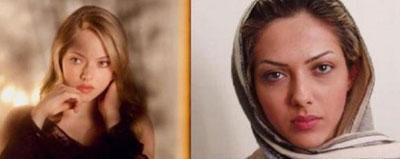 عکس شباهت واقعی بازیگران ایرانی و خارجی,عکس بازیگران ایرانی
