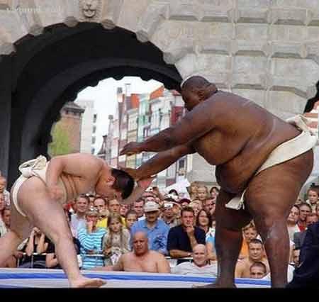 rahafun.com sumo tournament 10 عکس های جالب کشتی سومو Sumo