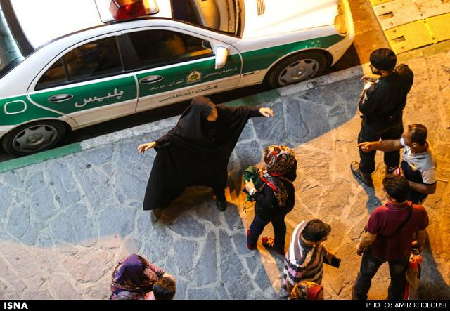 rahafun.com tasavir gshte ershad 14 عکس برخورد با بد حجابی در کنسرت مازیار فلاحی