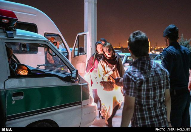 rahafun.com tasavir gshte ershad 26 عکس برخورد با بد حجابی در کنسرت مازیار فلاحی