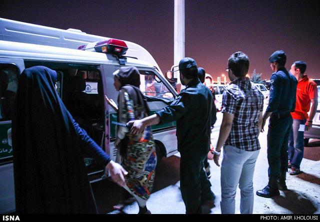 rahafun.com tasavir gshte ershad 27 عکس برخورد با بد حجابی در کنسرت مازیار فلاحی