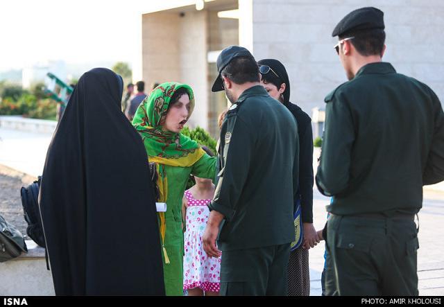 rahafun.com tasavir gshte ershad 4 عکس برخورد با بد حجابی در کنسرت مازیار فلاحی