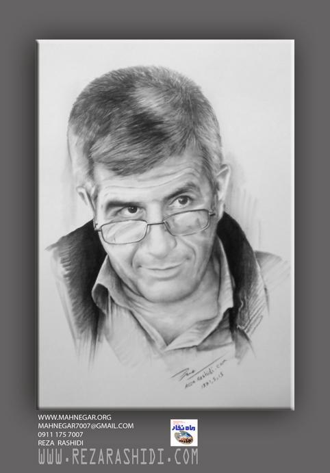 طراحی های سیاه قلم چهره توسط هنرمند ایرانی