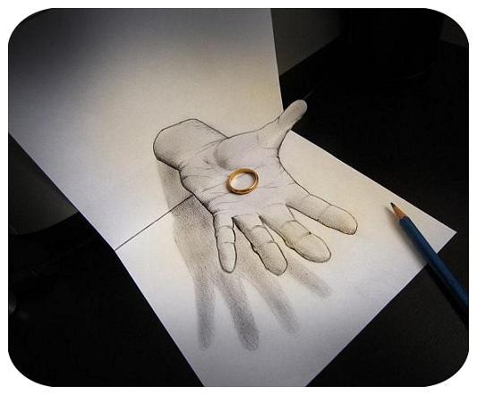 12 نقاشی سه بعدی با مداد