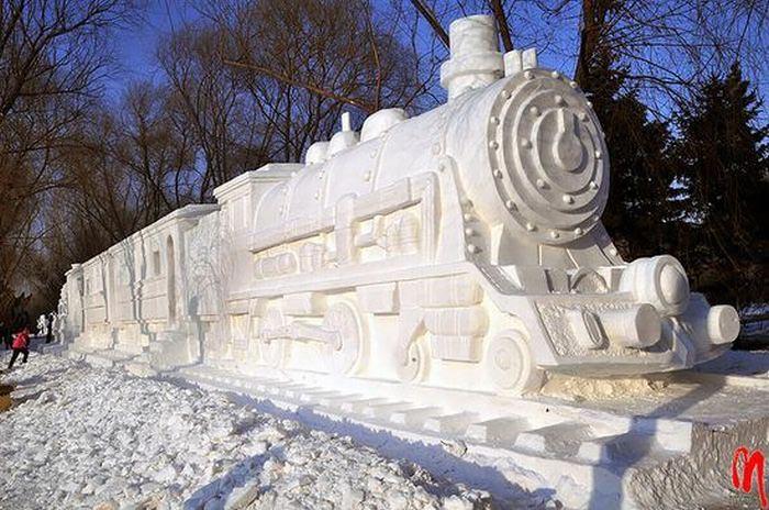 عکس مجسمه یخی