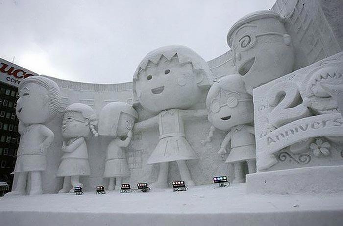 عکس مجسمه برفی