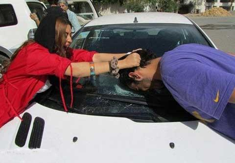 عاقبت تیکه انداختن به دختر در ایران - عکس