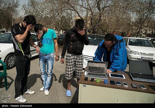عکس دستگیری سارقان