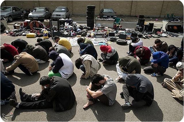 عکس های دستگیری سارقان و خلاف کاران تهرانی
