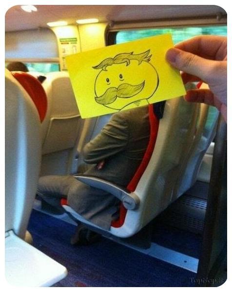 عکس های  خلاقیت جالب برای وقت گذرانی در مترو