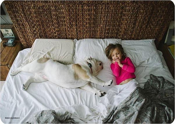 تصاویر دوستی جالب این دختربچه با سگ بزرگ اش