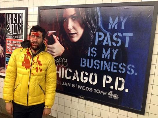 ژست های هنرمندانه در کنار تبلیغات فیلم