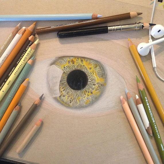www.rahafun.com hyper realistic drawings coloured pencils redosking 71 1 نقاشی های خیره کننده از چشم