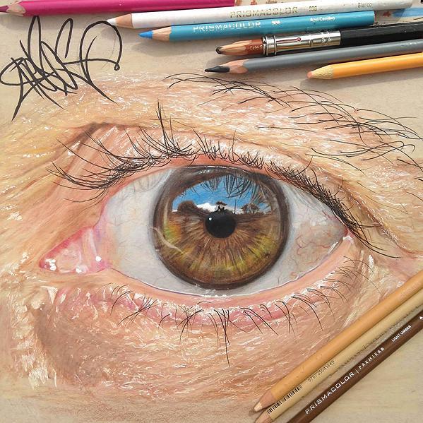 www.rahafun.com hyper realistic drawings coloured pencils redosking 71 2 نقاشی های خیره کننده از چشم