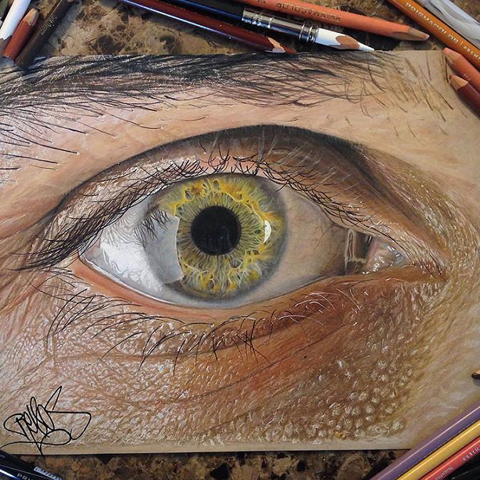 www.rahafun.com hyper realistic drawings coloured pencils redosking 71 3 نقاشی های خیره کننده از چشم