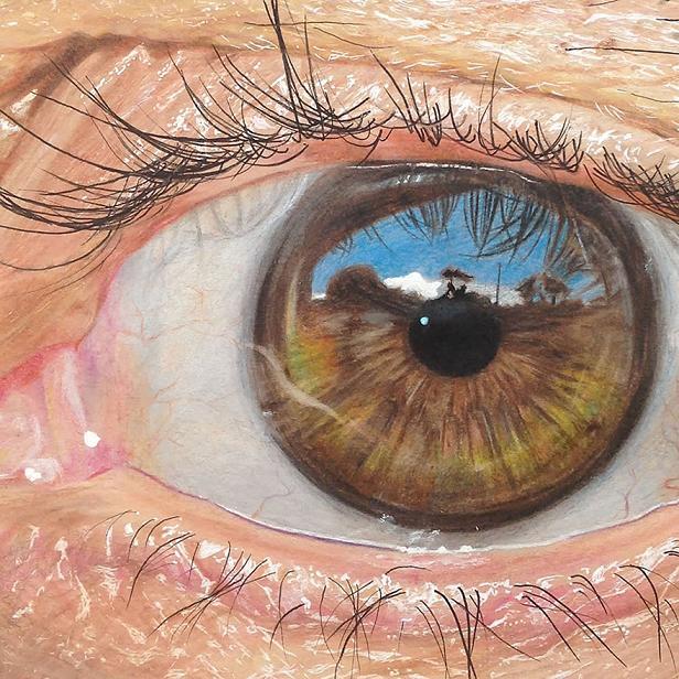 www.rahafun.com hyper realistic drawings coloured pencils redosking 71 4 نقاشی های خیره کننده از چشم