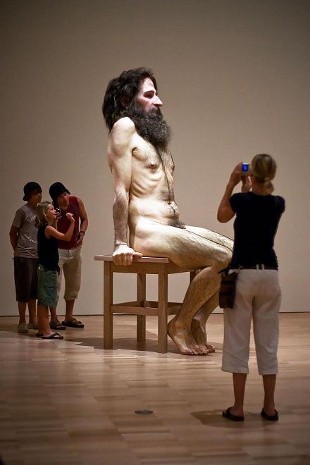 عکس جالب مجسمه