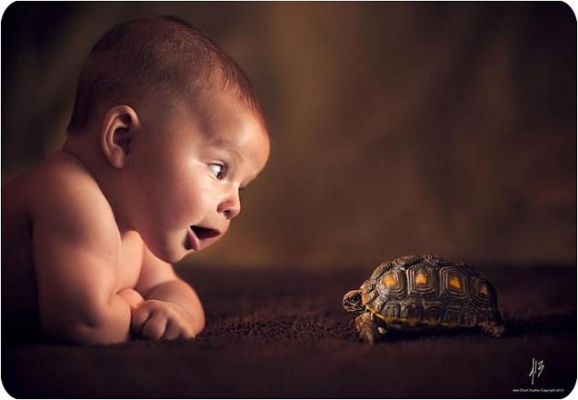 عکس های بامزه کودکان در طبیعت