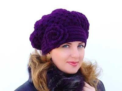 www.rahafun.com model shalo kolahe zemestane 17 مدل شال و کلاه بافتنی دخترانه