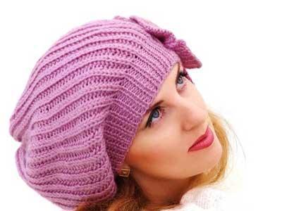 مدل شال و کلاه بافتنی دخترانه