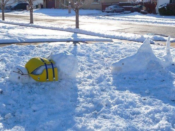 www.rahafun.com pic SNOWMAN 1 عکس های زیبا آدم برفی