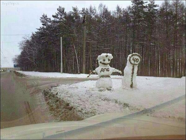 آدم برفی قشنگ
