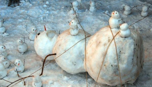www.rahafun.com pic SNOWMAN 35 عکس های زیبا آدم برفی