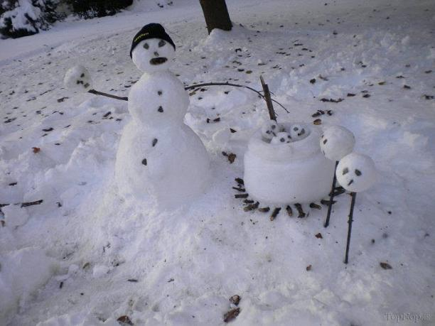 www.rahafun.com pic SNOWMAN 5 عکس های زیبا آدم برفی