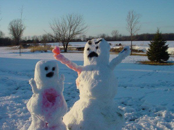 www.rahafun.com pic SNOWMAN 8 عکس های زیبا آدم برفی