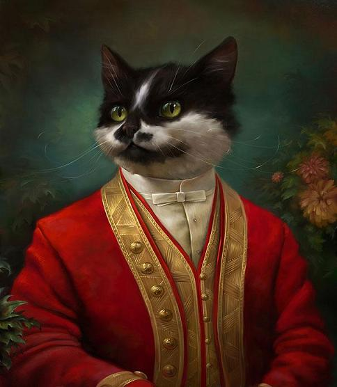 عکس بامزه گربه های سلطنتی