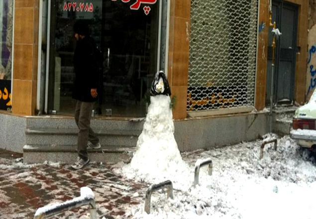 عکسهای آدم برفی های ساخته شده در ایران