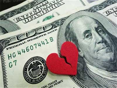 محبت و پول برای زن
